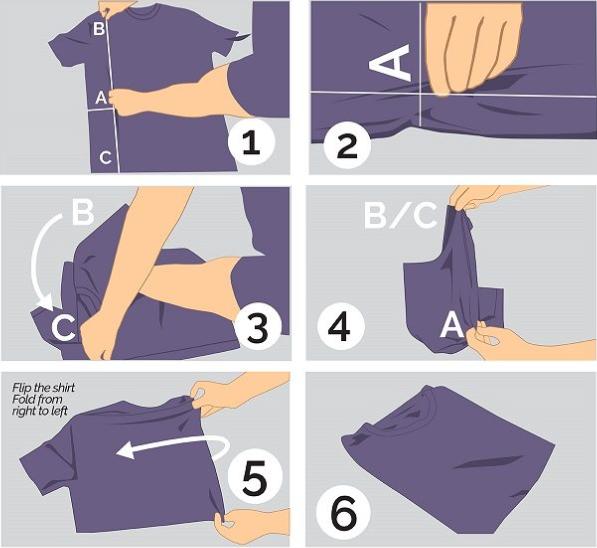 how fold t shirt